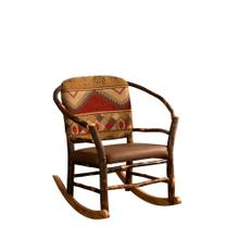 Hoop Chair Rocker w/ Fabric or Leather Seat & Back