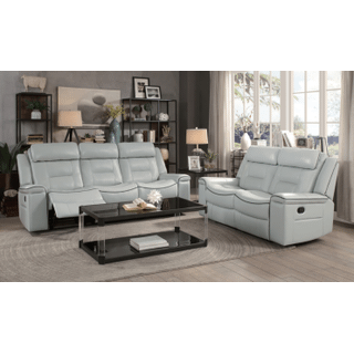 Darwan Double Lay Flat Reclining Sofa and Loveseat