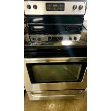 Product Image - USED- Stainless Frigidaire 30'' Freestanding Electric Glass Top Range- E30SSGLAS-U SERIAL #73