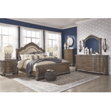 Charmond - Brown - 7 Pc. - Dresser, Mirror, Chest, Nightstand & King Sleigh Bed