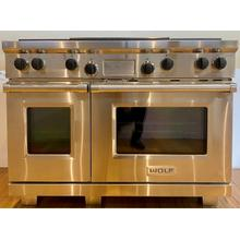 """Wolf DF484DG  Legacy Model - 48"""" Dual Fuel Range - 4 Burners and Infrared Dual Griddle"""