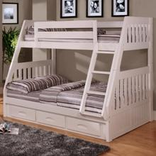 See Details - White Twin over Full Bunk Bed