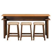 Crossway Gathering Console With Bar Stools