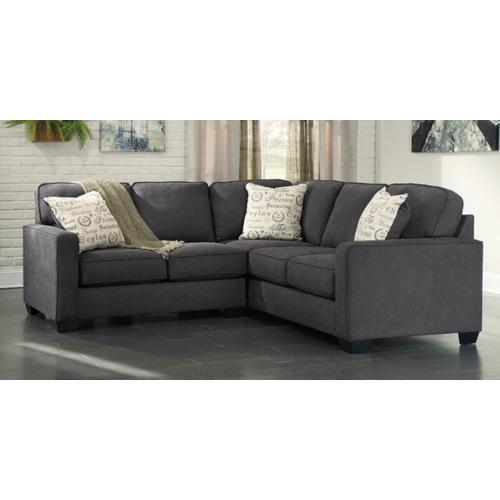Ashley Furniture - Alenya 2-Piece Sectional Charcoal Gray