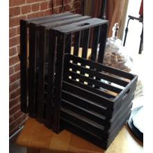 See Details - Set Of Wood Wine Crates