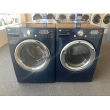 Refurbished Navy Blue LG STEAM Front Load Washer Dryer Set Please call store if you would like additional pictures. This set carries our 6 month warranty, MANUFACTURER WARRANTY AND REBATES ARE NOT VALID (Sold only as a set)