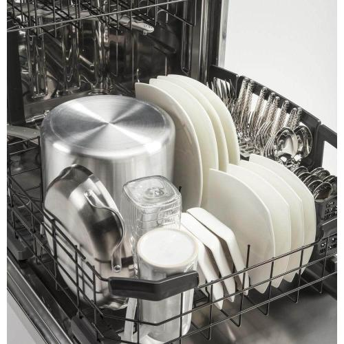 Adora Top Control Dishwasher in White with Stainless Steel Tub and Steam Prewash, 48 dBA