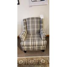1 ONLY!! Fusion Plaid accent chair