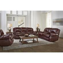 El Paso Walnut Leather Reclining Sofa and Loveseat