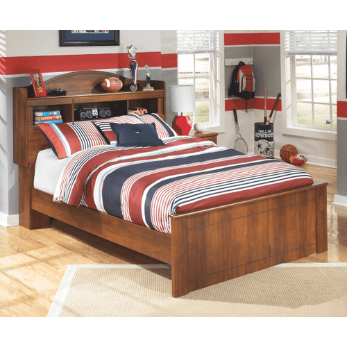 Barchan- Medium Brown- Full Bookcase Bed