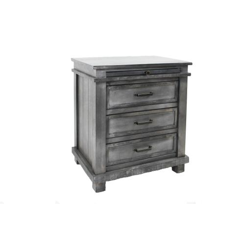 L.M.T. Rustic and Western Imports - Nightstand Rustic Gray