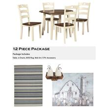 Woodanville 12 Piece Dining Room Package