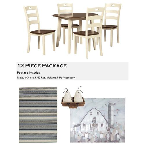 Woodanville 12 Piece Dining Room Package