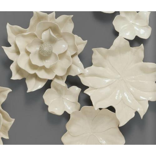 Magnolia Wall Flower (Ivory)