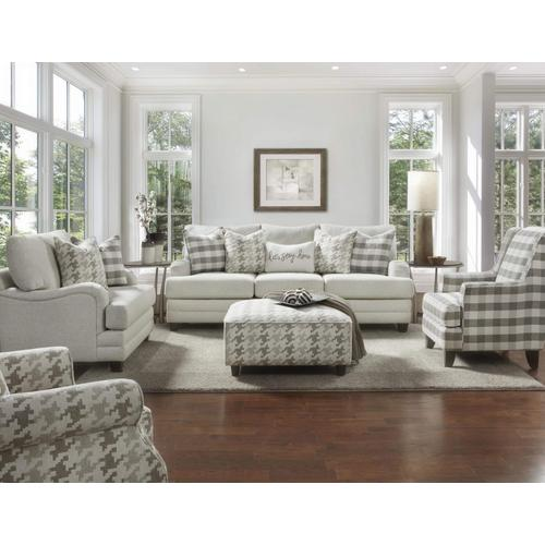 Fusion Houndstooth Square Cocktail Ottoman