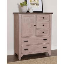 Bungalow 5 Drawer Chest in Dover Grey/Folkstone Finish
