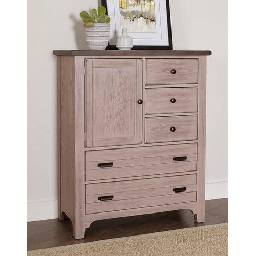 Lm Co. Home - Bungalow 5 Drawer Chest in Dover Grey/Folkstone Finish