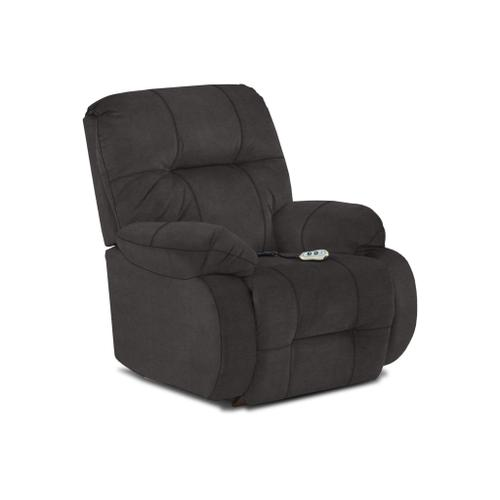 Brinley2 Power Tilt Headrest Rocker Recliner in Grey Fabric