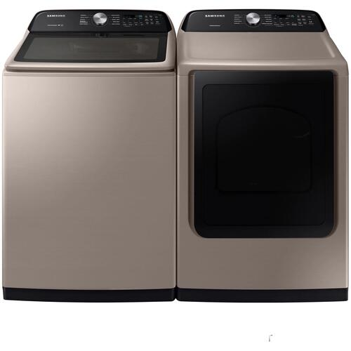 Samsung Top Load Washer and Dryer Champagne
