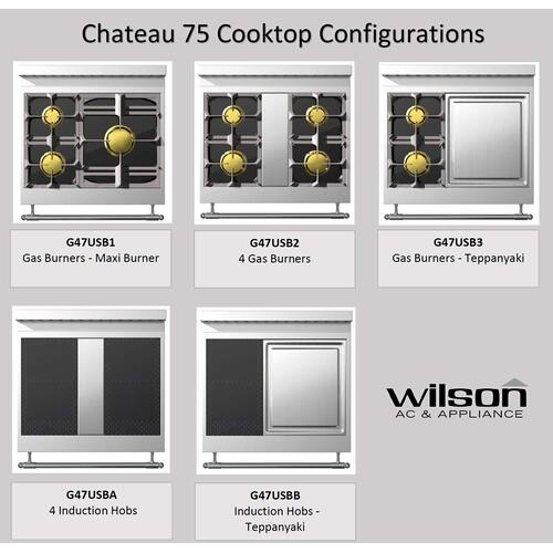 Chateau 75 (B2) - 4-Gas Burners