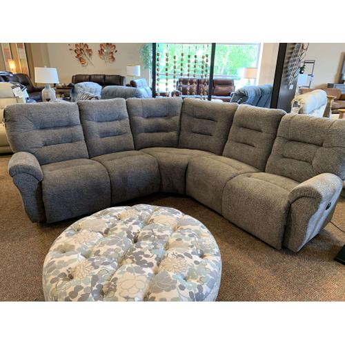 Unity Power Reclining Sectional - Charcoal