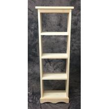 Maine Made DVD Rack Open Back 14W X 42H X 6D Pine Unfinished