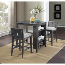 "Heston 3-Piece 36"" Counter Height Dining Set in Gray Finish"