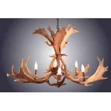 REAL 6 Light Fallow Antler Chandelier