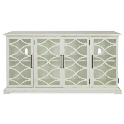 Magnussen Home - Mosaic Sterling Grey 4-Door Console