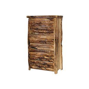 6 Drawer Chest Log Front Wild Panel Gnarly Log