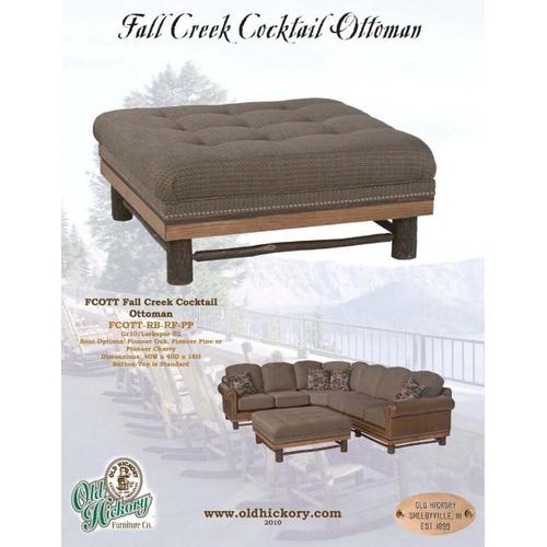 Old Hickory Furniture - Fall Creek Cocktail Ottoman