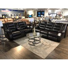 See Details - Ashley Vacherie Chocolate Reclining Sofa and Loveseat