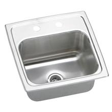 "15"" ELKAY Top Mount Single Bowl Stainless Steel Bar Sink with 18-Gauge, 2"" Drain Opening, 6-1/8"" Bowl Depth and Quick-Clip Mounting System"