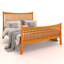 King Armstrong Solid Natural Cherry Spindle Bed