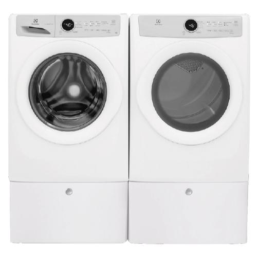 ELECTROLUX 4.3 Cu.Ft. Front Load Washer & 8.0 Cu.Ft. Electric Dryer with Pedestals