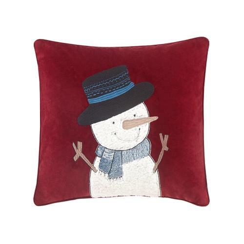 Jolly the Snowman Pillow