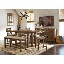 See Details - Moriville 6 Piece Counter Height Dining Group