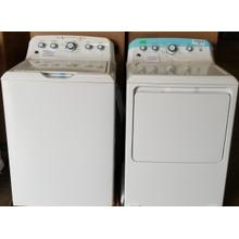GE 4.5 cu. ft. Capacity Washer with Stainless Steel Basket/7.2 cu. ft. Capacity aluminized alloy drum Electric Dryer