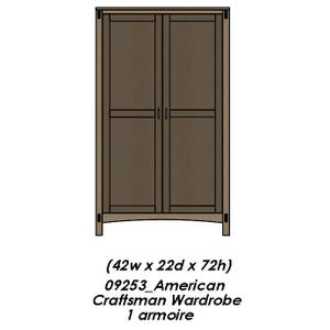 Palettes By Winesburg - American Craftsman  Armoire