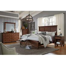 King Panel Bed Complete Oxford Whiskey Brown