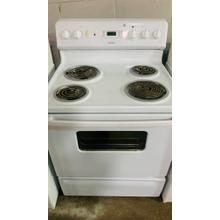 """See Details - USED- Hotpoint® 30"""" Free-Standing Electric Range E30WHCOIL-U SERIAL #68"""