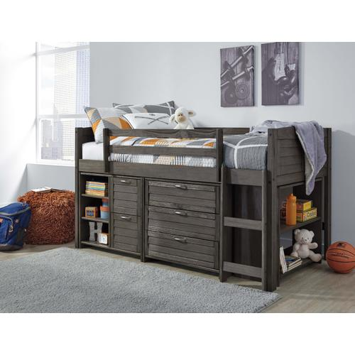 Caitbrook - Twin Loft Bed with Storage