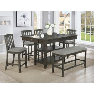 Packages - Crown Mark 2715 Nina Counter Height Dining Group