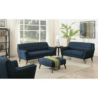 Binetti Sofa and Loveseat Set Navy