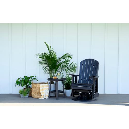Adirondack Swivel Glider 2' Dove Gray and Black