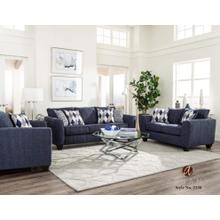 View Product - Denim Chenille Stationary Sofa
