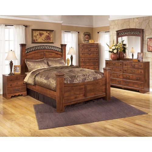 Timberline - Queen Poster Bed, Dresser, Mirror, & 1 X Nightstand