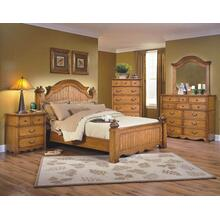 New Classics Hailey Bedroom 4pc (Headboard, Footboard, Dresser & Mirror)