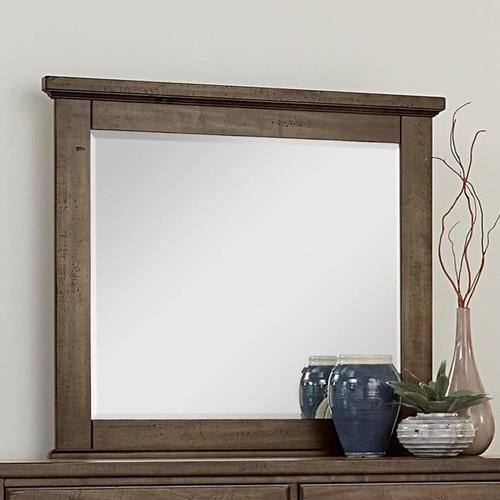 Cool Rustic Mink Solid Maple Mirror