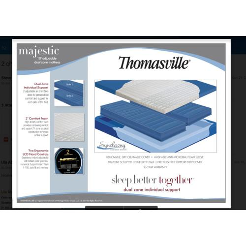 Majestic 2 Chamber  Dual Zone Air  Queen  Mattress